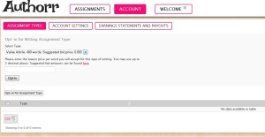 Authorr.com Assignment Opt In Page